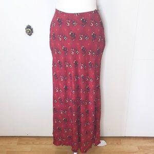 Vintage Spanish rose boho maxi skirt 🥀